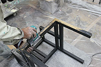 椅子の研磨